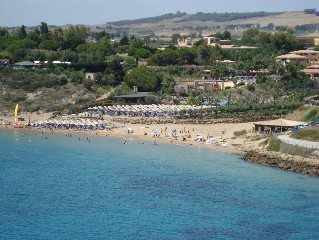 Le Castella near Crotone, Italy - the beach