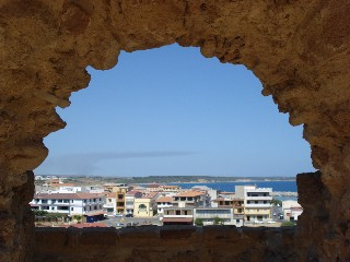 View from inside Le Castelle, near Crotone, Italy