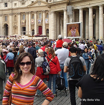 Cherrye in Rome, Italy-Saint Peters Piazza