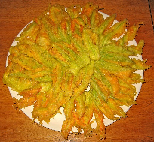 Zucchini Flowers Battered and Fried